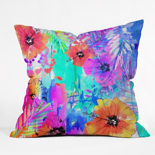 Holly Sharpe Hawaiian Heat Outdoor Throw Pillow