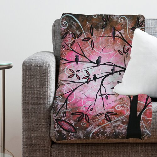 DENY Designs Madart Inc. Cherry Blossoms Polyester Fleece Throw Blanket