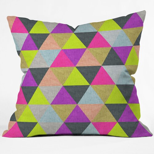 Bianca Green Pyramid Woven Polyester Throw Pillow