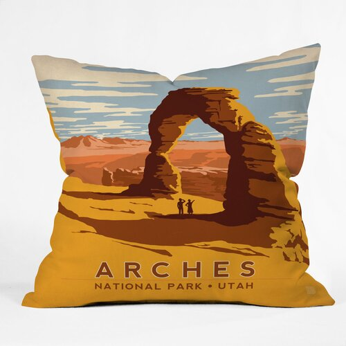 DENY Designs Anderson Design Group Arches Indoor/Outdoor Polyester Throw Pillow