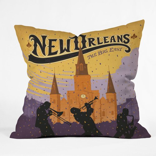 DENY Designs Anderson Design Group New Orleans 1 Indoor/Outdoor Polyester Throw Pillow