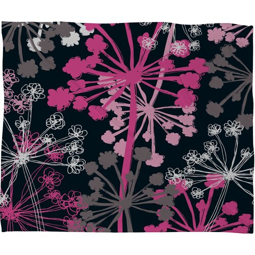 DENY Designs Rachael Taylor Cow Parsley Polyester Fleece Throw Blanket
