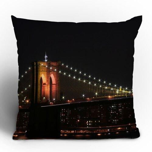 Leonidas Oxby Brooklyn Bridge 2 Woven Polyester Throw Pillow