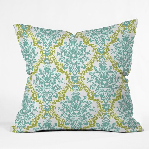 Rebekah Ginda Design Lovely Damask Outdoor Throw Pillow