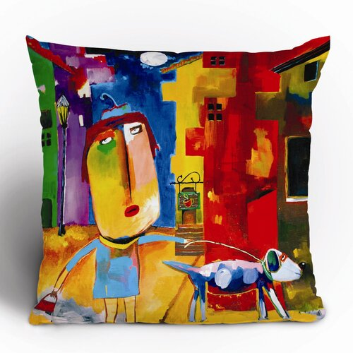 DENY Designs Robin Faye Gates Sylvia Needs Eggs Polyester Throw Pillow