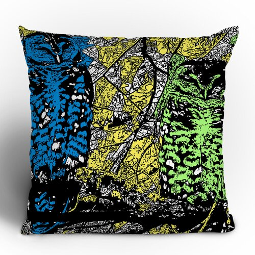 Romi Vega Bright Owl Polyester Throw Pillow