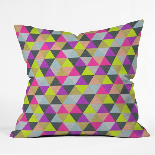DENY Designs Bianca Green Ocean of Pyramid Indoor/Outdoor Polyester Throw Pillow