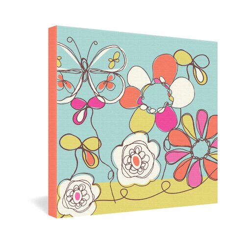 DENY Designs Fun Floral by Rachael Taylor Graphic Art on Canvas