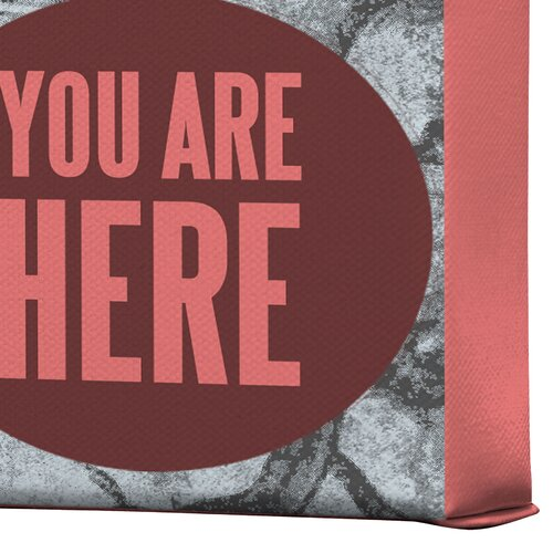 DENY Designs You Are Here by Wesley Bird Graphic Art on Canvas