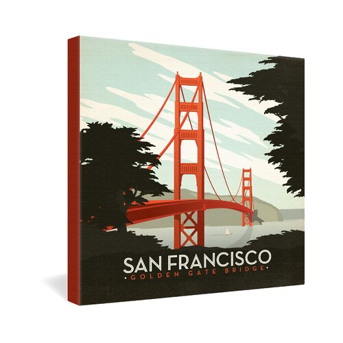 San Francisco by Anderson Design Group Vintage Advertisement on Canvas
