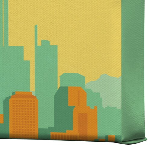 DENY Designs Seattle by Anderson Design Group Vintage Advertisement on Canvas