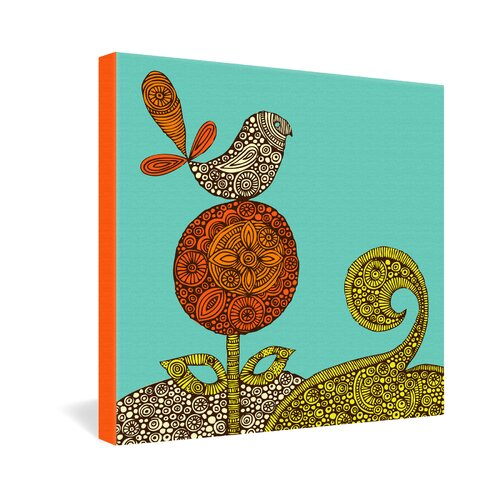 DENY Designs Bird in The Flower by Valentina Ramos Graphic Art on Canvas