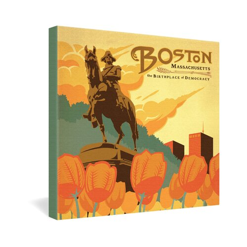 Boston by Anderson Design Group Vintage Advertisement on Canvas