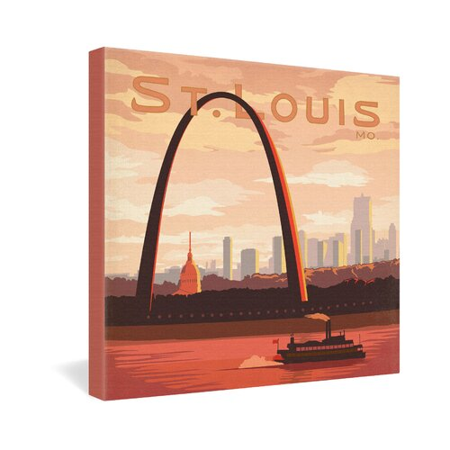 St Louis by Anderson Design Group Vintage Advertisement on Canvas