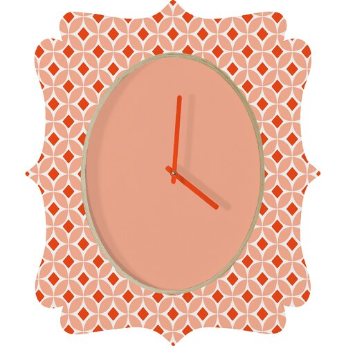 DENY Designs Caroline Okun Persimmon Wall Clock