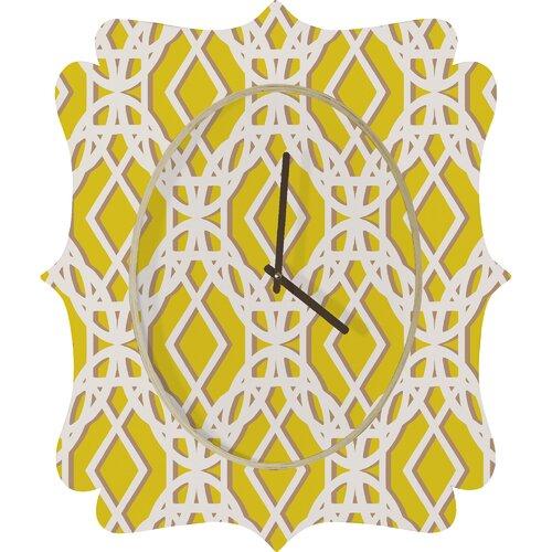 DENY Designs Aimee St. Hill Diamonds Wall Clock
