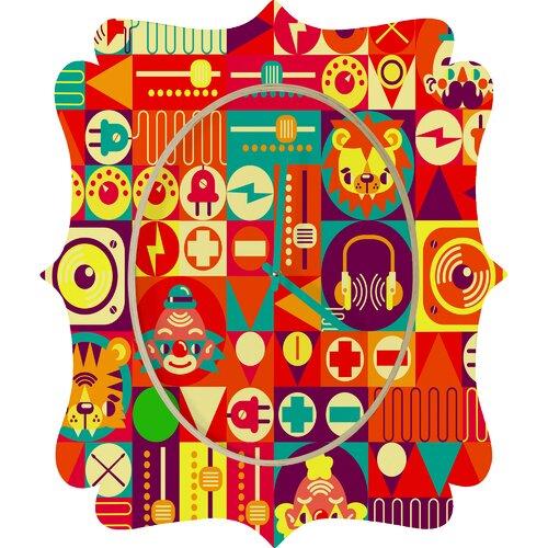 DENY Designs Chobopop Elecro Circus Wall Clock