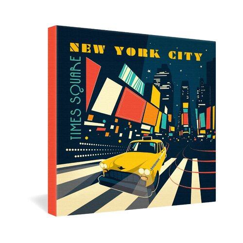 NYC Times Square by Anderson Design Group Graphic Art on Canvas