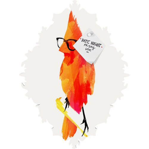 DENY Designs Robert Farkas Punk Bird Baroque Magnet Board
