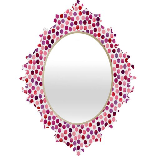 DENY Designs Garima Dhawan Watercolor Dots Berry Baroque Mirror