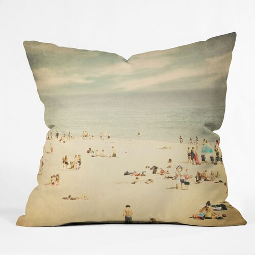 Shannon Clark Vintage Beach Outdoor Throw Pillow