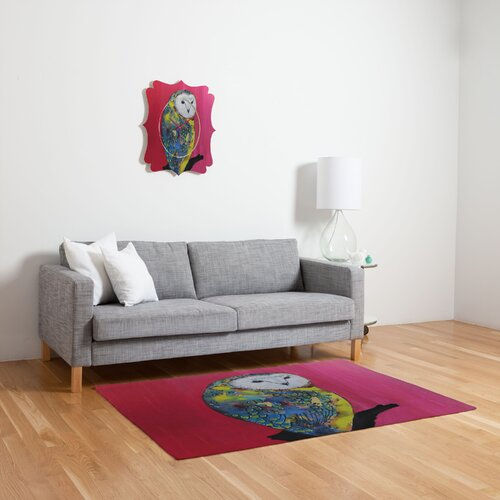 DENY Designs Clara Nilles Owl on Lipstick Novelty Rug