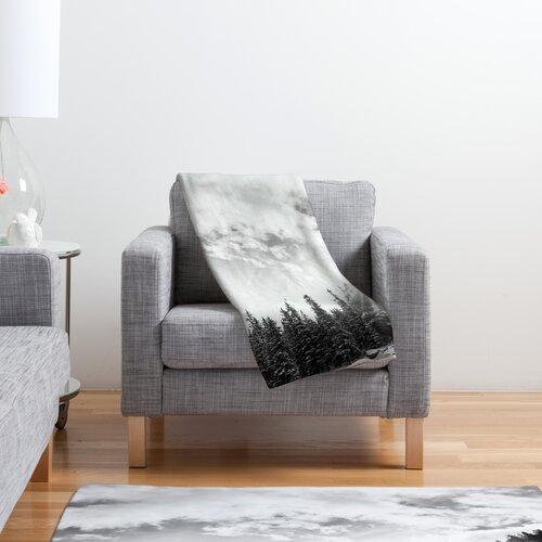 DENY Designs Bird Wanna Whistle White Mountain Polyester Fleece Throw Blanket