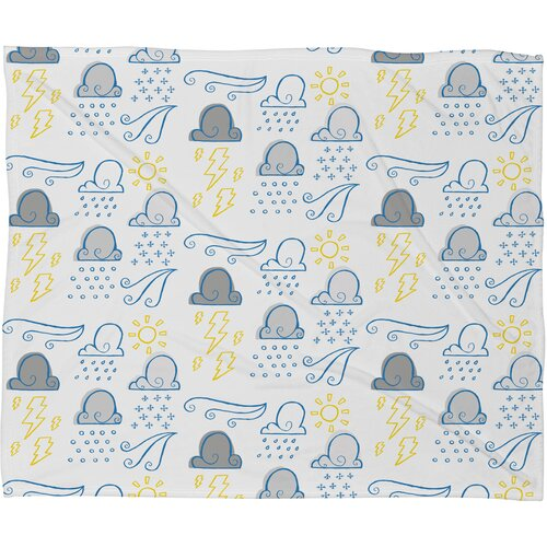 DENY Designs Jennifer Denty Clouds Polyester Fleece Throw Blanket