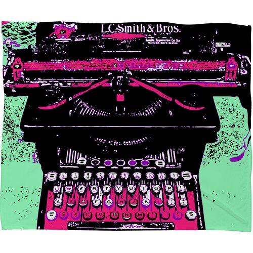 DENY Designs Romi Vega Antique Typewriter Polyester Fleece Throw Blanket