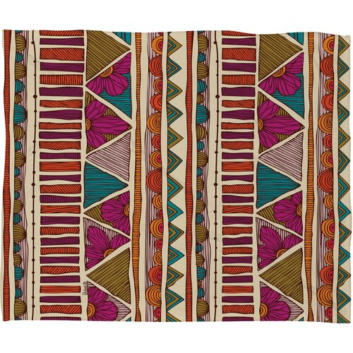 DENY Designs Valentina Ramos Ethnic Stripes Polyester Fleece Throw Blanket