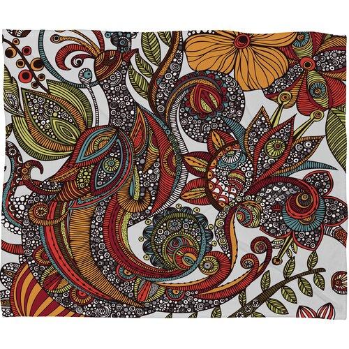 Valentina Ramos Paradise Bird Polyester Fleece Throw Blanket