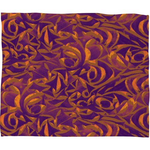 DENY Designs Wagner Campelo Abstract Garden Polyester Fleece Throw Blanket