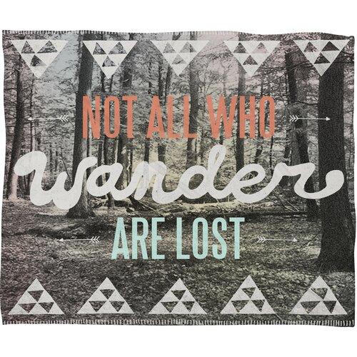 DENY Designs Wesley Bird Wander Polyester Fleece Throw Blanket