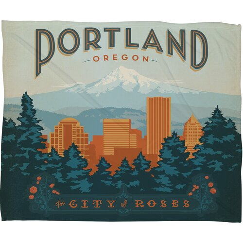 Anderson Design Group Portland Polyester Fleece Throw Blanket