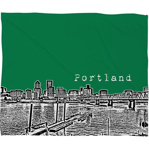 DENY Designs Bird Ave Portland Polyester Fleece Throw Blanket
