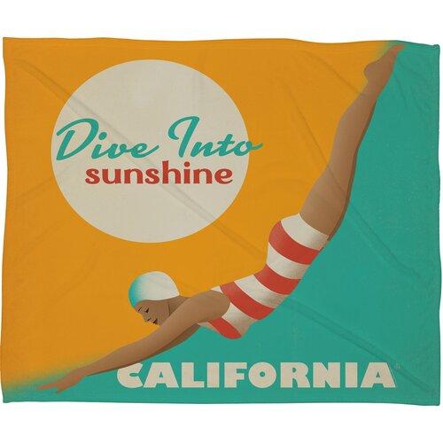 Anderson Design Group Dive California Polyester Fleece Throw Blanket