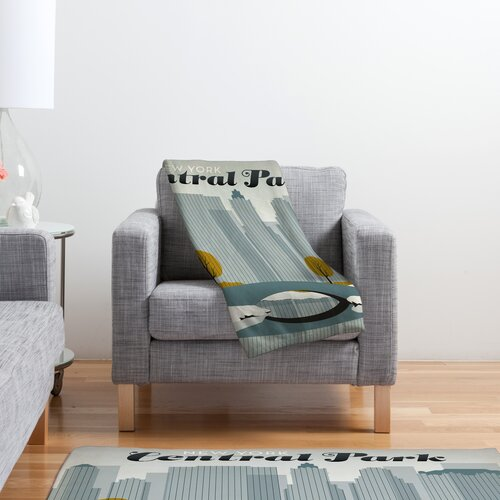 DENY Designs Anderson Design Group Central Park Snow Polyester Fleece  Throw Blanket