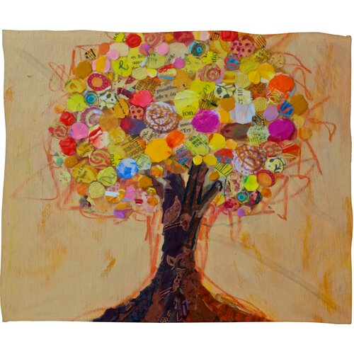 DENY Designs Elizabeth St Hilaire Nelson Summer Tree Polyester Fleece Throw Blanket