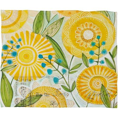 DENY Designs Cori Dantini Sun Burst Flowers Polyester Fleece Throw Blanket