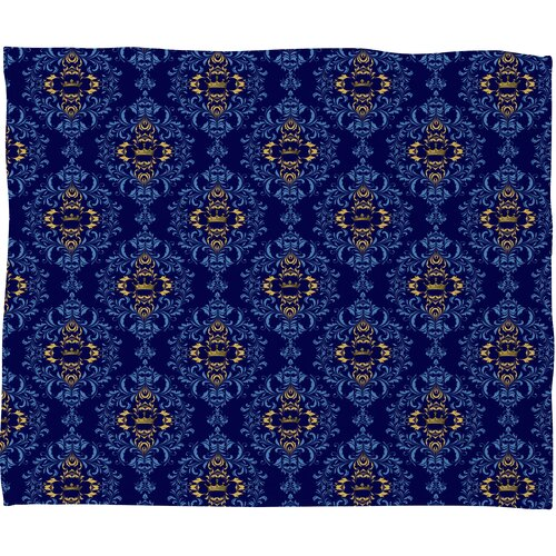 DENY Designs Belle13 Royal Damask Pattern Polyester Fleece Throw Blanket