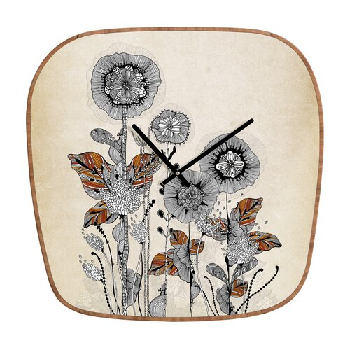DENY Designs Iveta Abolina Floral Wall Clock