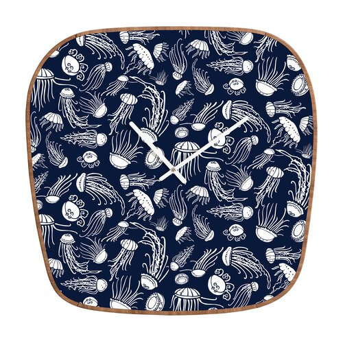 DENY Designs Jennifer Denty Jellyfish Wall Clock