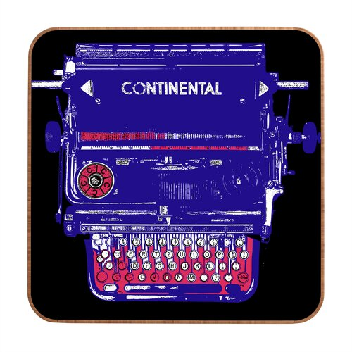 DENY Designs Continental Typewriter by Romi Vega Framed Graphic Art Plaque