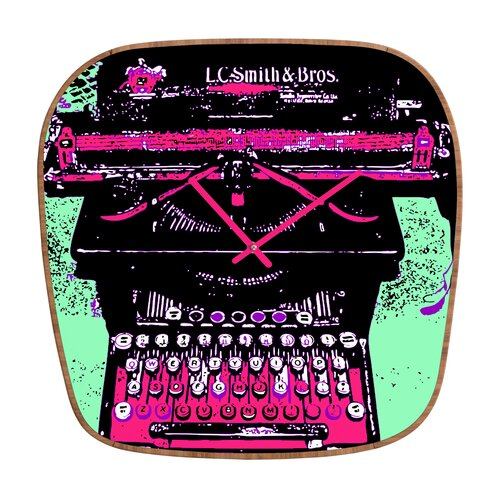 DENY Designs Romi Vega Antique Typewriter Wall Clock