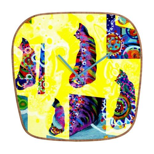 DENY Designs Randi Antonsen Cats Wall Clock