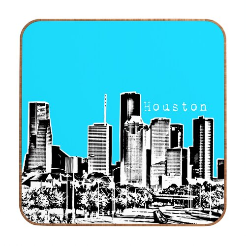 Houston by Bird Ave. Framed Graphic Art Plaque