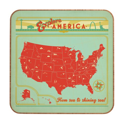 DENY Designs Explore America by Anderson Design Group Framed Vintage Advertisement Plaque