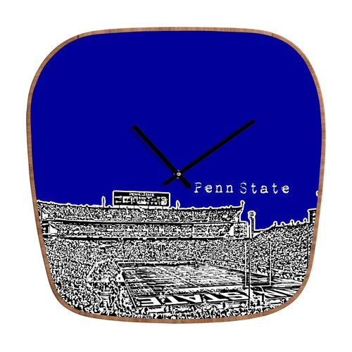 DENY Designs Bird Ave NCAA University Wall Clock