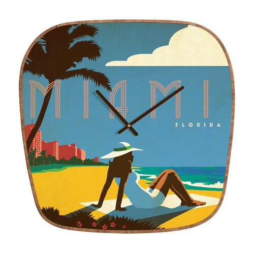 DENY Designs Anderson Design Group Miami Wall Clock