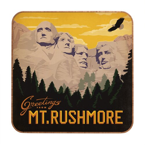 DENY Designs Mount Rushmore by Anderson Design Group Framed Vintage Advertisement Plaque
